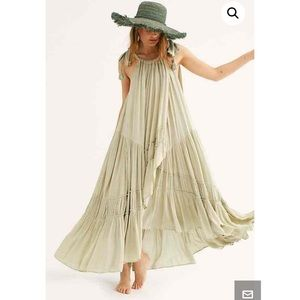 Free People Bare It All Maxi Dress. NWT